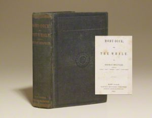 """""""A first edition of Moby Dick, one of my favorite books of all time. Holding a copy of this thrills me."""""""