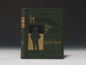 """Many copies of Huckleberry Finn were printed in the first edition, but not all were printed in the first printing. There are specific physical differences—called points—one has to spot to identify a copy as part of the first batch printed."""