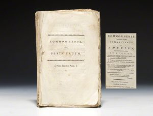 1776 London edition of Common Sense, issued with loyalist Chalmer's Plain Truth