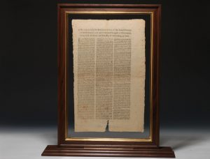 New York broadside of the Continental Congress' July 1775 Declaration... Setting forth the Causes and Necessity of their taking up Arms.
