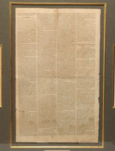 February 26, 1788 issue of the New-York Packet, containing the first printing of Hamilton's Federalist essay Number 60