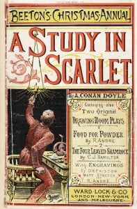 The cover of the Christmas annual that contained the first publication of A Study in Scarlet