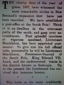"New Zealand newspaper article, ""A New Appointment,"" 1907."
