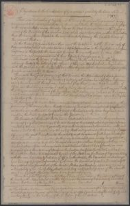 The Library of Congress' copy of Mason's Objections to the Constitution, from Washington's papers. (Image source: Library of Congress)