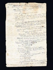A manuscript leaf in George Sand's hand from the mid-1860s.