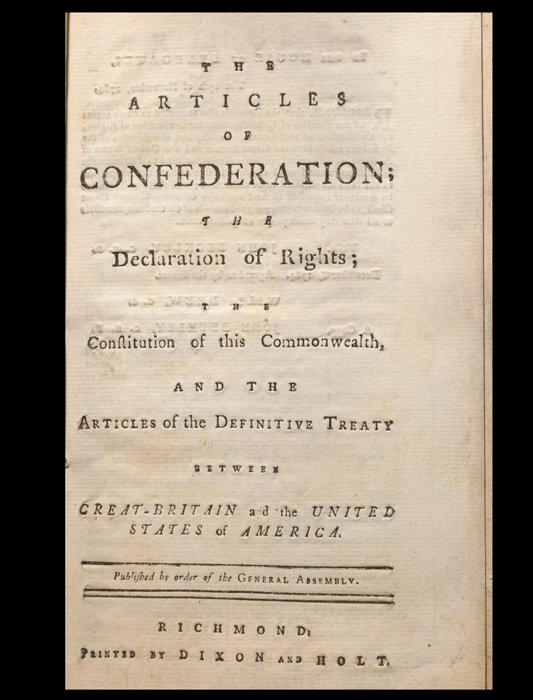 articles with confederation not to mention your treaty connected with paris