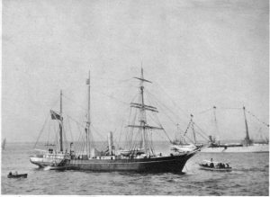 The Nimrod sets sail in 1907.