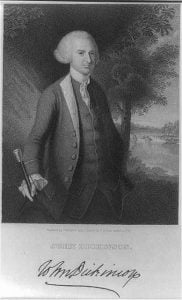 John Dickinson (1732-1808) of Pennsylvania and Delaware, from the Library of Congress. (Image source: LOC)