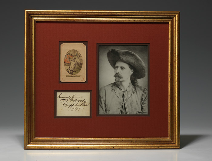 Autograph Sentiment Signed, 1895. (BRB 101541)