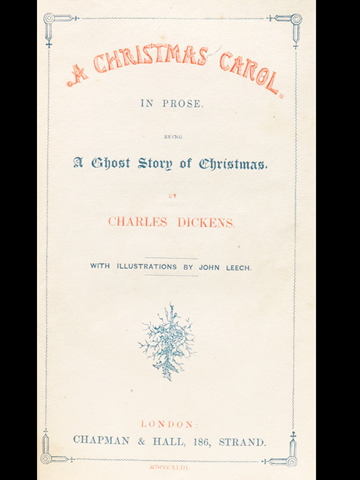 The title page of the first edition, first issue Christmas Carol.