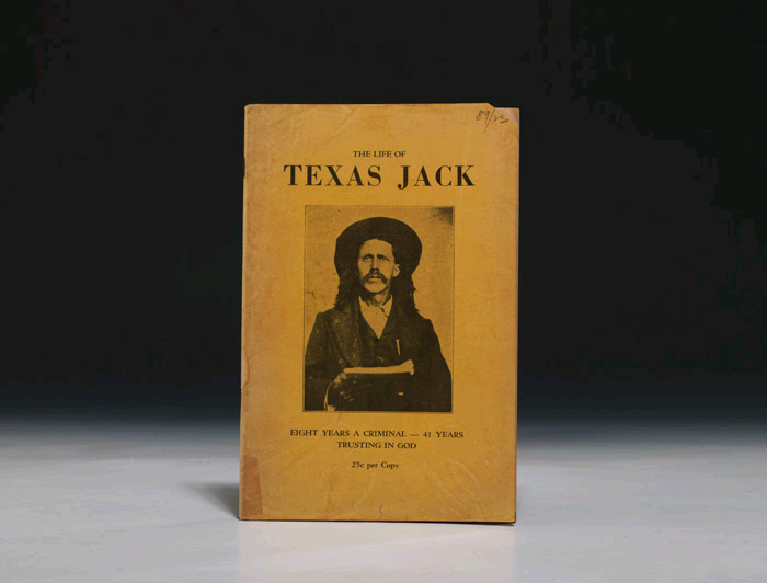 "Autobiography of repentant stagecoach robber Nathanial ""Texas Jack"" Reed (1936)."