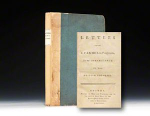Boston 1768 edition of Dickinson's Letters from a Farmer.