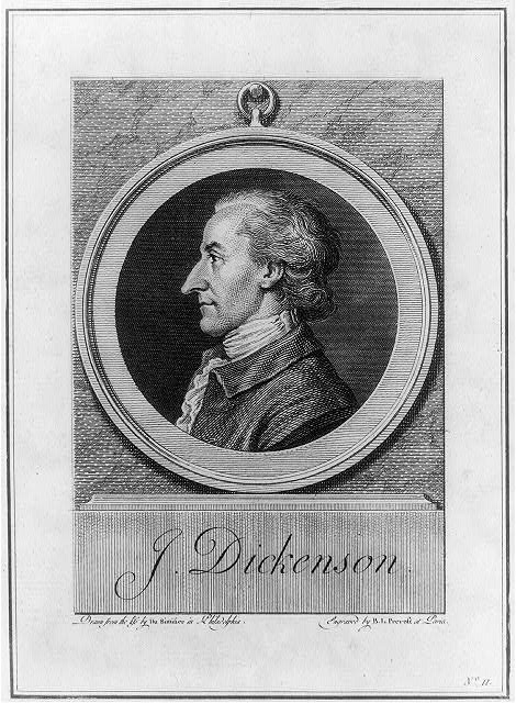 Portrait of John Dickinson, drawn from life and engraved o add image credit Library of Congress LC-USZ62-26777
