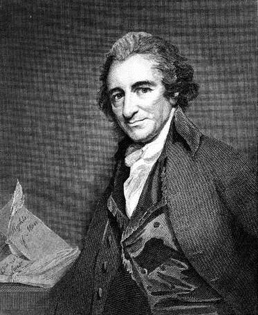 Thomas Paine, 1737-1809. Image courtesy Library of Congress, LC-USZC4-2542.
