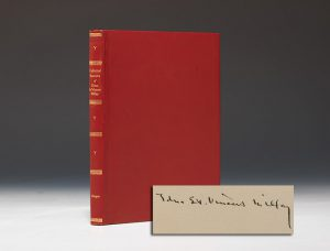 First edition of The Collected Sonnets of Edna St. Vincent Millay,  signed by the poet.  Harper & Brothers (New York), 1941.