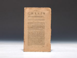 In The Crisis Extraordinary, Paine supported taxation to raise urgently-needed money for the Continental Army.