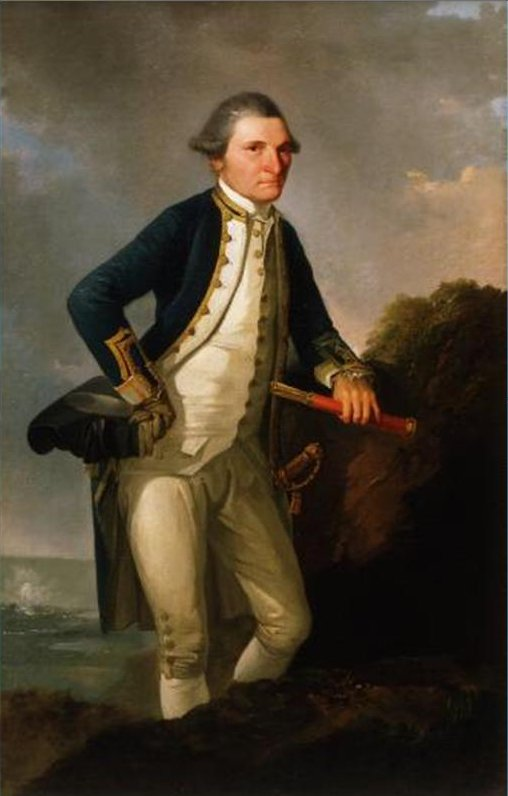 Captain Cook oil on canvas by John Webber, 1776, Museum of New Zealand.