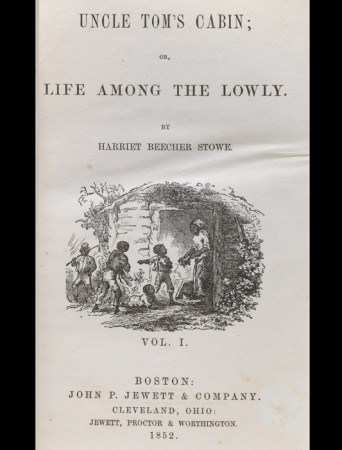 A first edition of Uncle Tom's Cabin, printed by John Jewett of Boston.