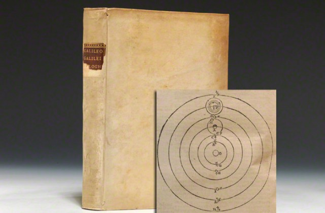 1632 first edition of Galileo's Dialogo (BRB #82805)