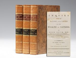 1793 edition of Smith's Wealth of Nations (BRB #101827)