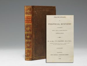 1820 first edition of Malthus' Principles of Political Economy (BRB #101316)
