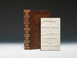 1817 first edition of Ricardo's Principles of Political Economy (BRB #90697)
