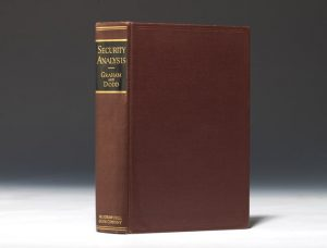 1934 first edition of Graham and Dodd's Security Analysis (BRB #85801)