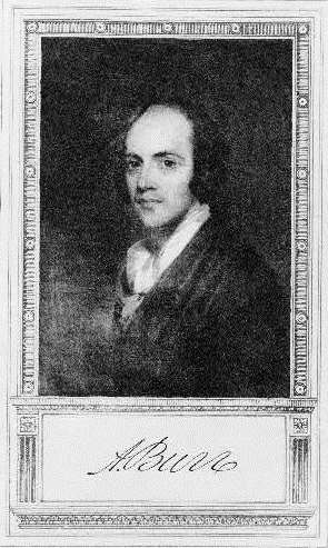 Aaron Burr (courtesy Library of Congress)