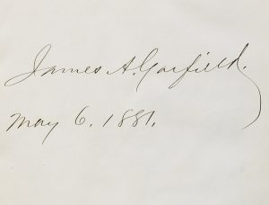 An autograph album signed by Garfield while president (BRB 103436)