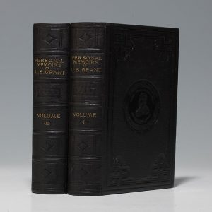 A first edition of Grant's Memoirs, this copy presented by Grant's son at his father's direction, as it was published posthumously (BRB 102387)
