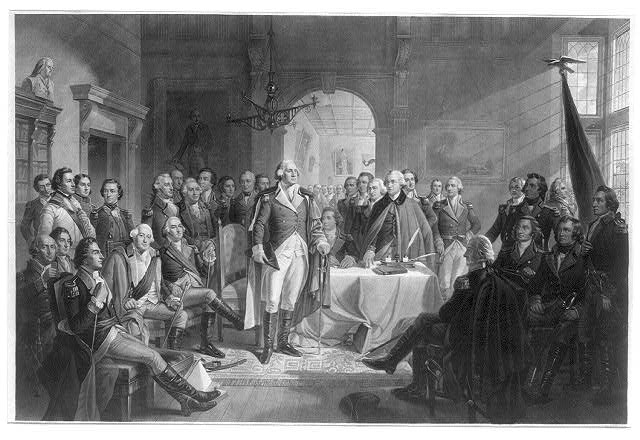 Washington and his generals by A.H. Ritchie (image courtesy Library of Congress)
