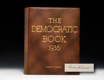 The 1936 Democratic Book, signed by FDR (BRB  70474)