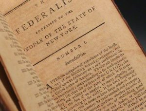 A first edition of the Federalist, one of only 500 copies produced (BRB 80124)