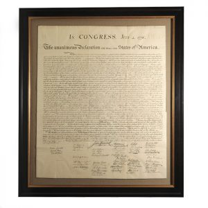 The Peter Force engraving of the Declaration of Independence (BRB 86182)