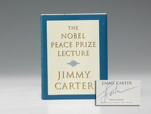 First edition of Jimmy Carter's Nobel Peace Prize Lecture, signed (BRB 100926)
