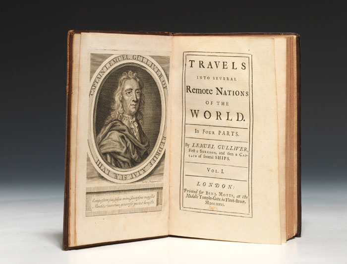 "A first edition, first issue (""Teerink A"") of Gulliver's Travels. (BRB 821169)"