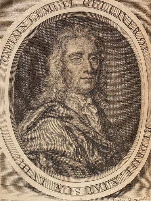 Frontispiece portrait of Gulliver in the second issue. (BRB 91646)