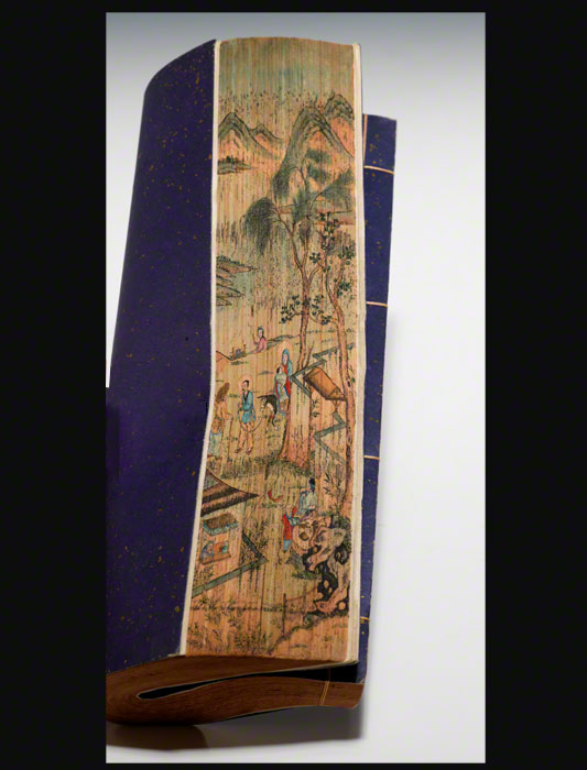 A Chinese fore-edge painting executed in the 20th century (BRB 77394)