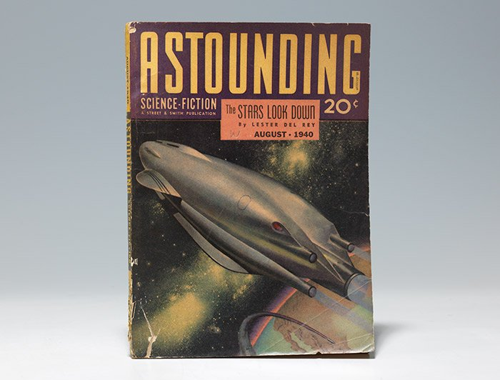 Astounding Science Fiction from August, 1940, with cover story by Lester Del Rey (BRB 104266)