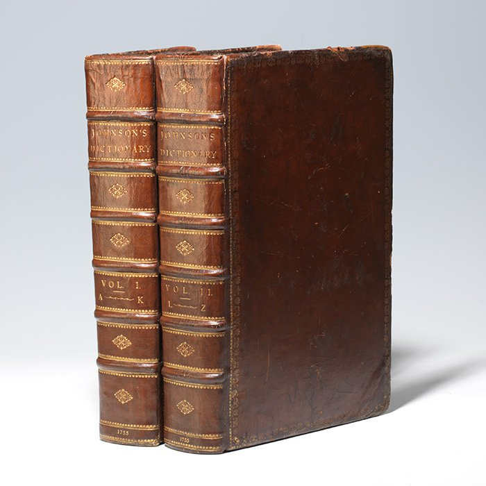 A first edition of Johnson's Dictionary, 1755 (BRB 103003)