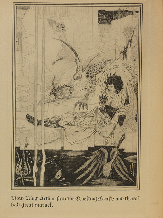 The Questing Beast, from the 1893 Beardsley edition of Malory (BRB 101757)