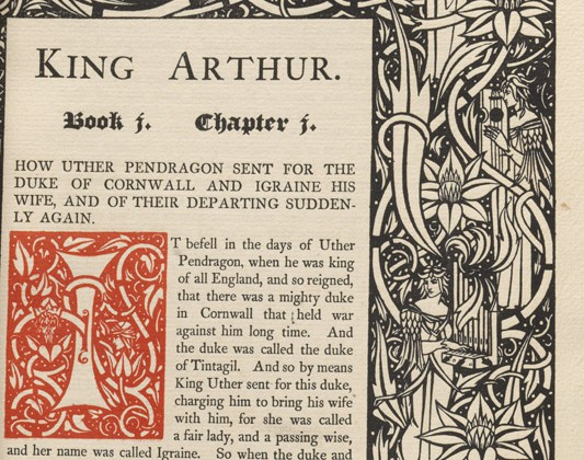 The first edition, 1893-4, of Beardsley's Morte D'Arthur (BRB 101757)