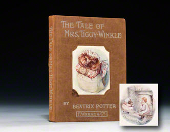 A first edition (1905) of the Tale of Mrs. Tiggy-Winkle (BRB 73702)