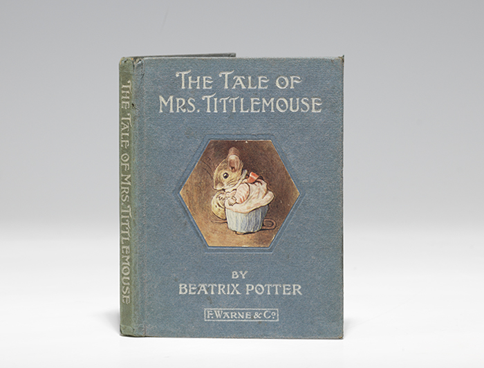 First edition (1910) of the Tale of Mrs. Tittlemouse (BRB 105426).