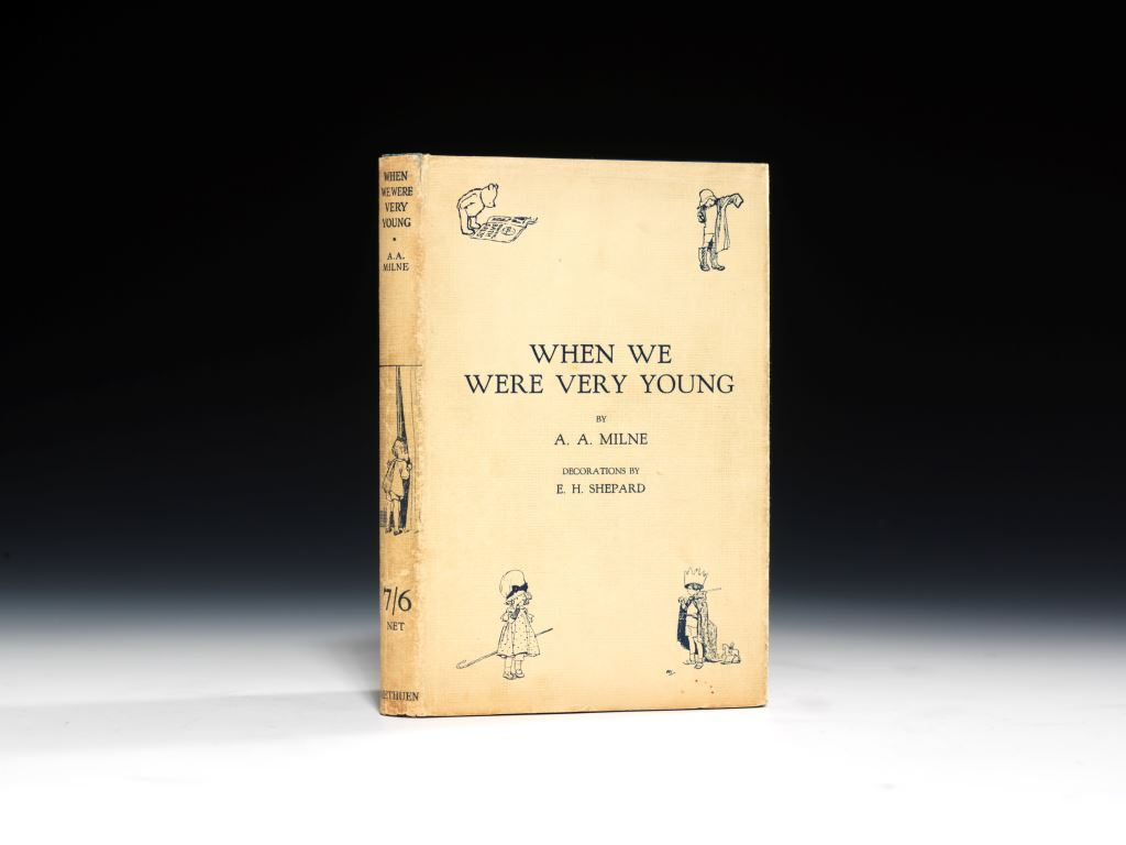 A first edition, 1924, of When We Were Very Young, by A.A. Milne with illustrations by E.H. Shepard (BRB 63402)