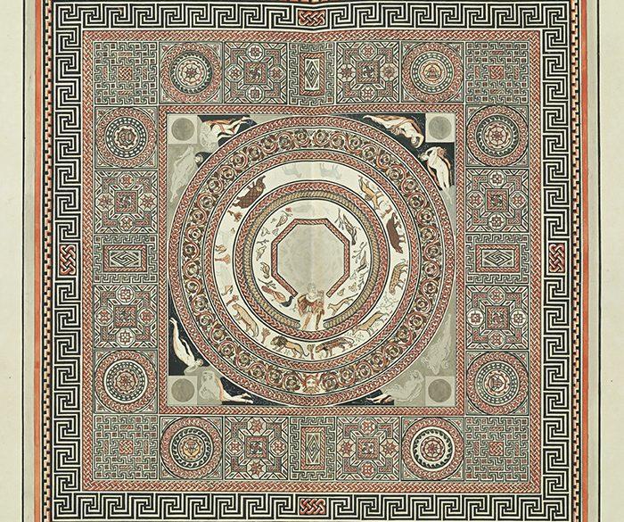 Orpheus Mosaic at Woodchester