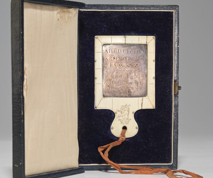 silver and ivory hornbook